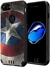 HRWireless iPhone 7 Plus Case, Capsule-Case Hybrid Dual Layer Silm Defender Armor Combat Case (Black) Brush Texture Finishing for iPhone 7 Plus/iPhone 6S Plus/iPhone 6 Plus - (Rock Star)