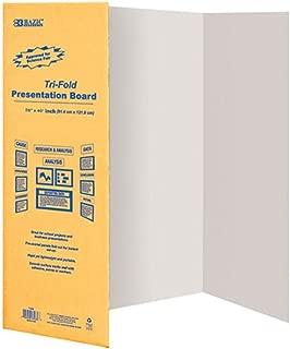 BAZIC - 28in X 40in White Tri-Fold Presentation Board, Case Pack of 30