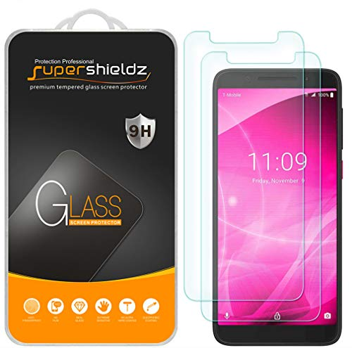 (2 Pack) Supershieldz for T-Mobile (Revvl 2) Tempered Glass Screen Protector, Anti Scratch, Bubble Free