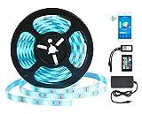 Tira de Luz Inteligente Tiras Led Wifi - GALOOK 5M Inalámbrico Strip Barra de Luz 150 LEDs 5050 RGB con Controlador a Distancia...