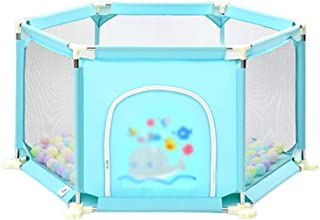 WJSW Baby Fence Safety Playpen Ball Pit Pool Children s Portable Playground Fence Child Safety Activity Center  Color Gray