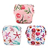 babygoal Baby Reusable Swim Diaper, Washable and Adjustable for Babies 0-2 Years, Swimming Lessons & Baby Gift 3SD06