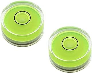 Driak 4PC 15mm Green Multipurpose Mini Circular Bullseye Bubble Spirit Level Horizon Level