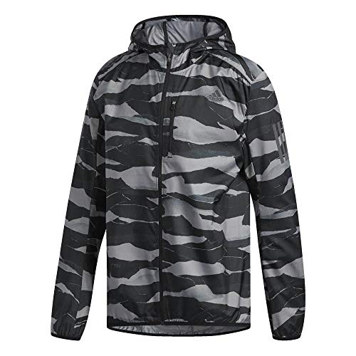 adidas Herren Own The Run Trainingsjacke, Grey/Black/Grey, M