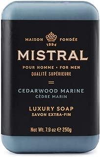 Mistral Men's Cedarwood Marine Bar Soap, Cedarwood Marine