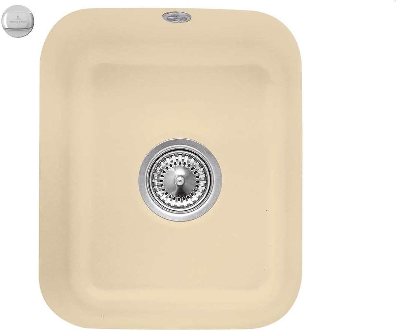 Villeroy & Boch Cisterna 45 Sand Keramik-Spüle Beige Unterbau Küchenspüle Becken