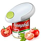 Electric Can Opener, Mini Restaurant Can Opener, Smooth Edge Automatic Electric Can Opener (White)