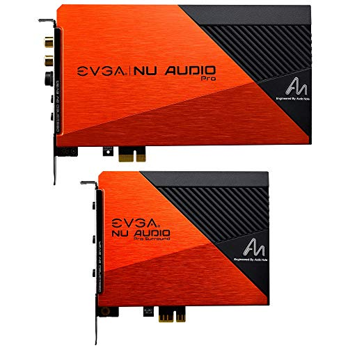 EVGA NU Audio Pro 7.1 Surround, Lifelike Audio PCIe RGB LED Backplate Designed with Audio Note 712-P1-AN21-KR