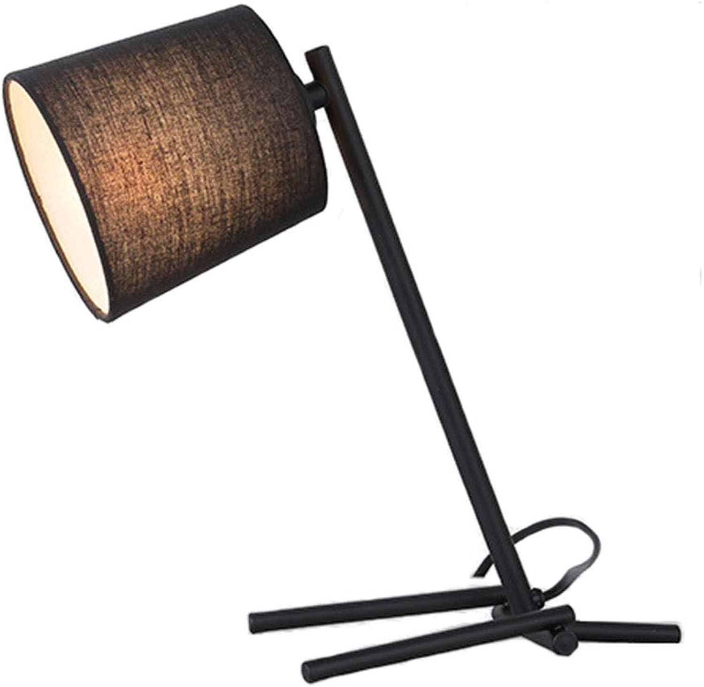 Eisen Kunst Stoff Schreibtischlampe Schlafzimmer Bettleuchte Tischlampe Kinder Lernen Leseleuchte Lampe Arbeitszimmer Wohnzimmer Lampe Arbeitsplatzleuchten BüRo GStezimmer Familie Dekoleuchten
