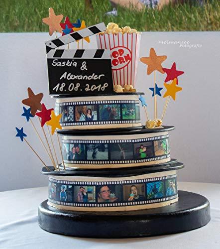 Essbares Tortenband oder Filmstreifen für Ihre Fototorte Tortenaufleger Tortenbild Zuckerbild