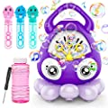 Toys Gifts for Toddlers Boys Girls 1,2,3 Year Old-Electric Octopus Bubble Machine Blower Maker for Kids with Music, My First Birthday Gift for Parties Outdoor Outside Play by Banvih