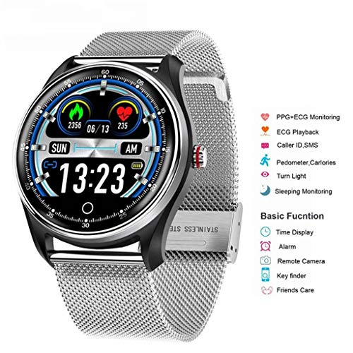 YAALO Smart Horloge Mannen, ECG PPG ENG Hartslag Bloeddruk Monitor Gezondheid Fitness Tracker IP68 Waterdichte Smartwatch 8 Sport Modi Voor Android IOS