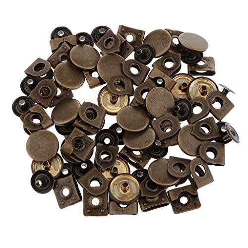 B Blesiya 20 Stück Hosenhaken Nähfrei, Rockhaken, Rockverschluss, Hosenverschluss - Bronze