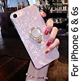 KC Glitter Dream Shell Pearl Stand Ring Holder Soft Silicon Semi Transparent Back