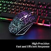 BAKTH Tastiera e Mouse da Gioco, Colore da Arcobaleno LED Retroilluminato USB Gaming Tastiera e Mouse per Videogiochi o Lavoro, Paragonabile a Una Tastiera Meccanica #2