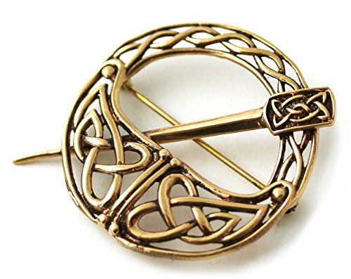 Bronze Tara Filigree Celtic Knot Brooch and Pins Norse Irish Vintage Thailand Made Jewelry (Brooch V.2)