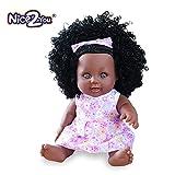 Nice2you Poupée Afro-américaine réalistes 12 Pouces bébé poupées pour Enfants Jouets pour Enfants (Style 4)