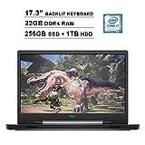 2020 Dell G7 17 7790 17.3 Inch FHD Gaming Laptop (9th Gen Intel 6-Core i7-9750H up to 4.50 GHz, 32GB DDR4 RAM, 256GB SSD + 1TB HDD, NVIDIA GeForce RTX 2060, RGB Backlit Keyboard, Windows 10) (Gray)