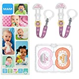 MAM Happy Family Soothing Set, chupetes y chupeteros (+6 meses), juego de...