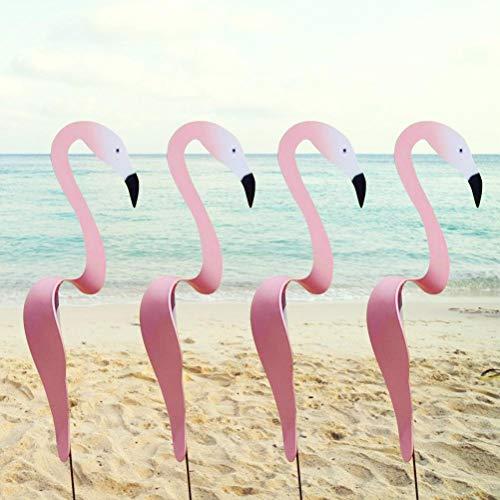 Wirbelvogel - Ein Wunderlicher und Dynamischer Vogel, der sich mit der Leichten Gartenbrise Dreht, Flamingo-Windspinner, Flamingo-Windspiel-Kunstdekoration für den Gartenpatio-Hinterhof (1 Stück)