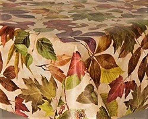 linen702 Vinyl Pvc Tablecloth 2 metres (200 x 137 cm) Rustic Autumn Leaves...
