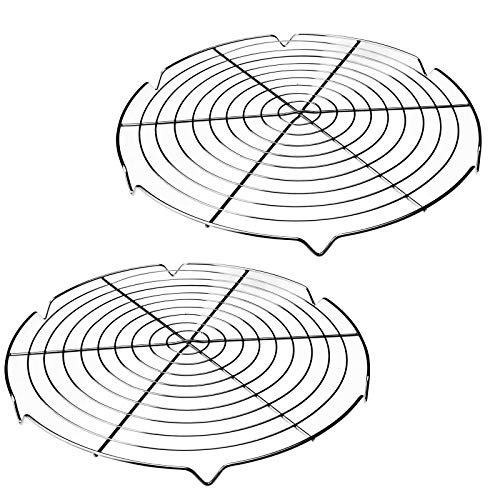 SIDCO Auskühlgitter 2 Stück Kuchengitter Kuchendraht Abtropfgitter Kuchenrost rund
