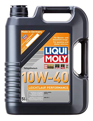 Liqui Moly 2536 - Aceite de motor, Leichtlauf Performance, 10W-40, Booklet, 5 l