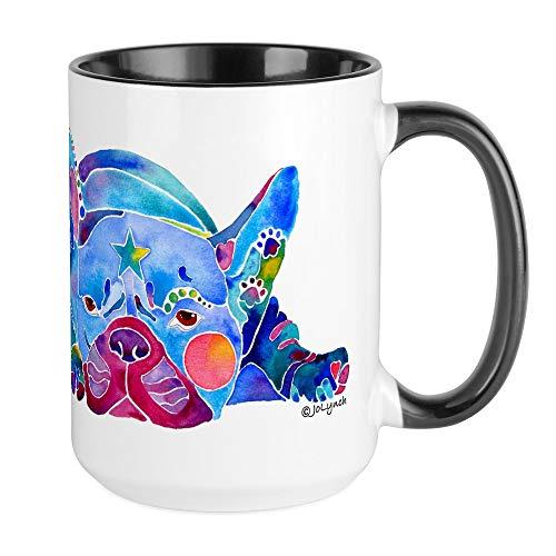 CafePress French Bulldog Frenchies Large Mug Coffee Mug, Large 15 oz. White Coffee Cup