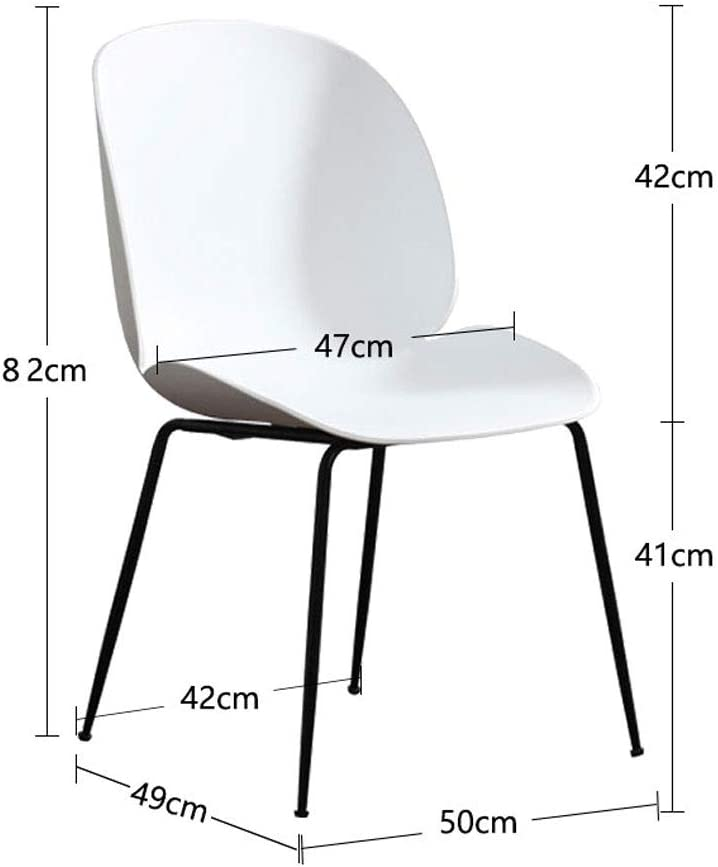 SLL- Chaise en Plastique de Chambre à Coucher de Chaise de Salle de Tabouret en Plastique de ménage Minimaliste Moderne Moderne (Color : Red) Gray