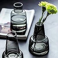 花瓶 ミニ花器 ガラス花瓶 透明 フラワーベース 一輪挿し フローラ花器 水栽培 インテリア飾り プレゼント 北欧 おしゃれ 透明花瓶 YHOMBES
