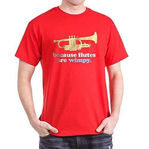 CafePress - Lustiges Band Trompete Zitat - 100% Baumwolle T-Shirt Gr. M, rot