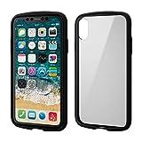 エレコム iPhone XR ケース 耐衝撃×フレーム TOUGH SLIM LITE [背面クリアタイプ] ブラック PM-A18CTSLFCBK