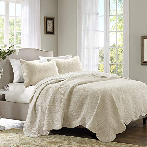 Madison Park Tuscany 3 Piece Coverlet Set, King/California King, Ivory, King/Cal King(104