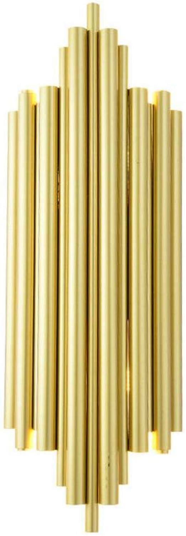 Yd&hLED-Wandleuchte, Moderne kreative Wandleuchte aus Eisen-Gold mit G9-Glühlampe, Schlafzimmer-Nachttischlampe TV-Hintergrundwandleuchten, Bul (Lampe Nicht enthalten) 17  50cm