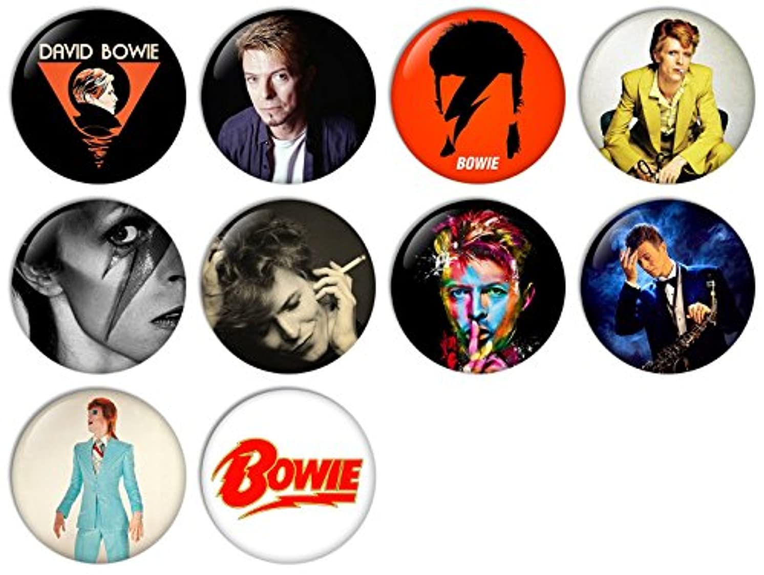 David Bowie No.3 Pinback Buttons Badges/Pin 1 Inch (25mm) Set of 10 New