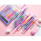 S-TROUBLE 12 unids/Set bolígrafos resaltadores de Doble Cabeza papelería Kawaii Starry Fluorescent Maker Dibujo Oficina Material Escolar