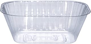 Curtis Wagner Plastics Plant Tray Basket Liner (5-Pack) - Clear, Oval (Diameter = 8.25 x 6.8 x 3.5 top, 6.5 x 4.25 Bottom, 3.5 Depth) Thin Plastic for Indoor or Garden - Clear, Black & Terracotta