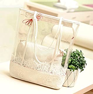 TMXOWB transparent shoulder bags fashion Leather Handbags PVC summer beach hand bag fashion white clear shoulder bags