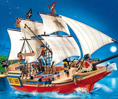 PLAYMOBIL® 4290 - Piraten - Großes Piraten-Tarnschiff