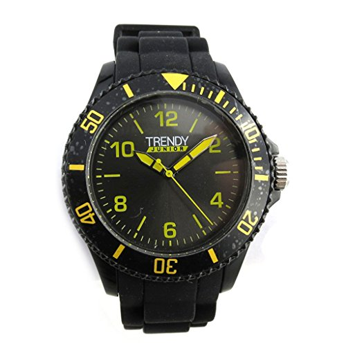 Les Trésors De Lily [N2394] - Armbanduhr Kind 'Trendy' schwarz gelb.
