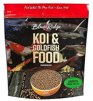"Blue Ridge Fish Food Pellets Koi and Goldfish Growth Formula, Floating 3/16"" Pellet, Balanced Diet"