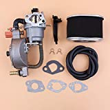 Beixi Time Dual Fuel Carburetor Air Filter Fuel Line Kit for HONDA GX160 GX200 168F 170F GX 160 200 Engine...