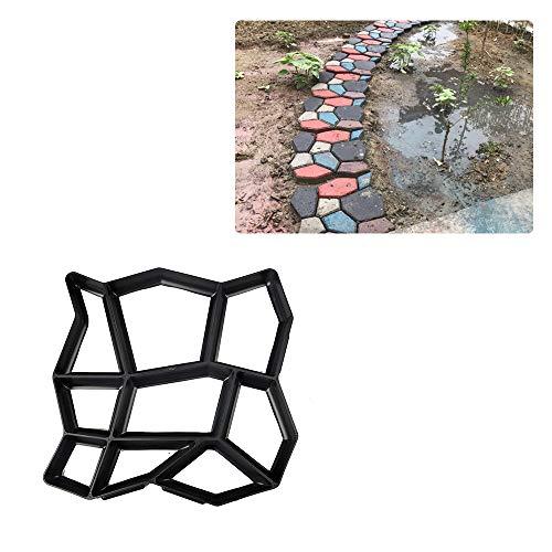 HXHON Molde para hacer caminos de piso, molde para pavimentar hormigón, adoquines, diseño de hormigón, cemento, escalonada, piedra