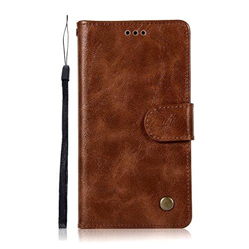 Sunrive Hülle Für Lenovo Moto G4 Play, Magnetisch Schaltfläche Ledertasche Schutzhülle Etui Leder Hülle Cover Handyhülle Schalen Handy Tasche Lederhülle(N-Blau)+Gratis Eingabestift
