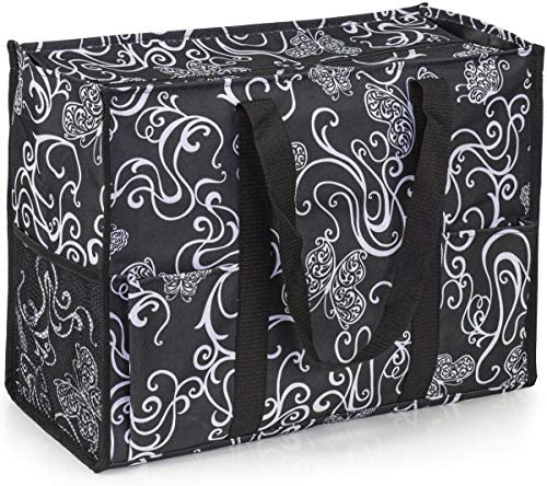 VP Home Large All Purpose Utility Tote Bag Butterfly Swirl product image