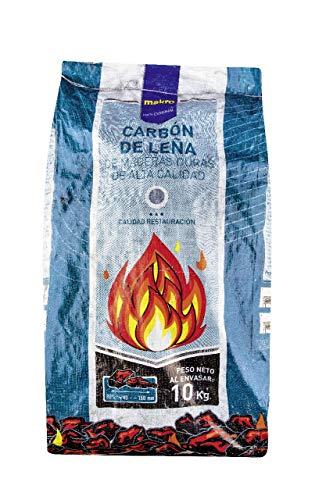 Makro Professional Carbón Vegetal Barbacoa 10 KG Homogéneo y con un Alto Poder calorífico.