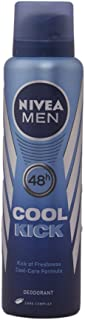 Nivea Men Cool Kick 48 Hours Deodorant Spray150ml with Ayur Product in Combo