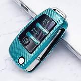 ZSEXDR Soporte para Coche Smart Remote Car Styling Accesorios Interiores Carcasa para Llave de Coche, para Audi A1 A3 A4 A5 Q7 A6 C5 C6Verde