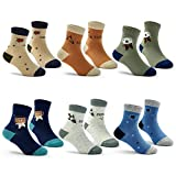 Big Boys Seamless Toe Socks Cotton Crew Athletic Socks Colorful Quarter Socks Size 13-1