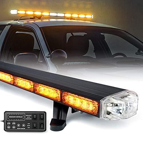 Xprite 48' Traffic Advisor White Amber Emergency Strobe Light Bar High...